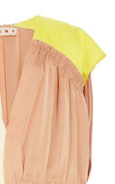 Pleated Colorblock Dress by Marni for Preorder on Moda Operandi