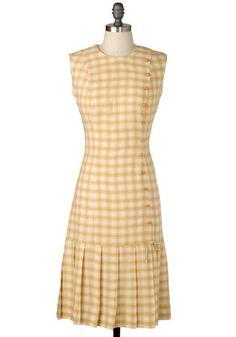Vintage Picnic In The Park Dress, #ModCloth 1970s