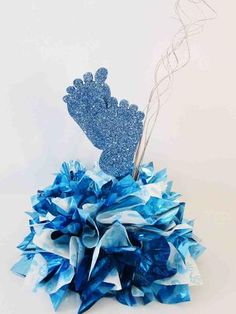 Baby Feet Centerpiece Blue