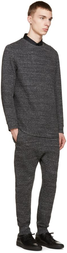 Helmut Lang - Grey Melange Lounge Pants