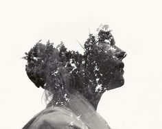 Need to get these half heads down    Multiple Exposure Portraits by Christoffer Relander, via Behance
