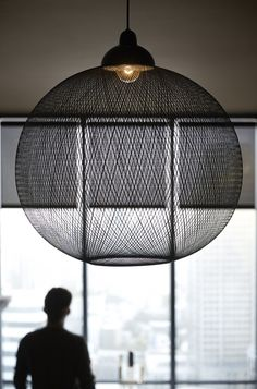 Big in size and impact, this lamp works well because of its airy design.