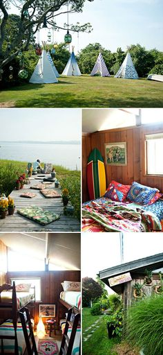 this is really just for that bottom left image... bunk beds- ideal for sleepovers with family/friends. http://www.nytimes.com/2011/07/28/garden/a-stage-set-in-montauk-with-bees-and-ocean.html?_r=1