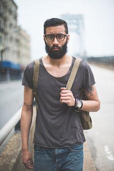 Eli II   Flickr - Photo Sharing! T shirt beard travel fashion men tumblr Style