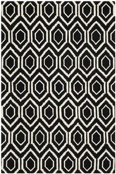 Chatham Ivory & Black Geometric Wool Hand-Tufted Area Rug