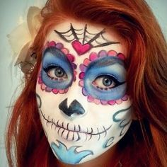 sugar skulls face paint - Google Search