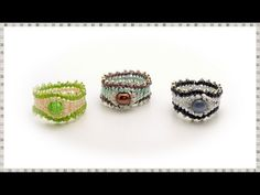 BeadsFriends: Right Angle Weave tutorial - How to make a bead ring (RAW) | Beading Tutorial - YouTube