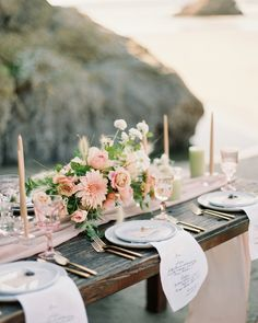 "Amber & Muse on Instagram: ""By tenderness in the form of pale pink, next to light green and warm white dominating the harmonious color palette at this ethereal coast…"" Blush Wedding Theme, Pale Pink, Ethereal, Table Settings, Palette, Warm, Table Decorations, Lighting, Coast"