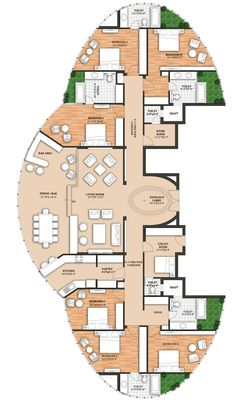hotel floor plan 69 Trendy house layout tips floor plans Round House Plans, Family House Plans, Dream House Plans, House Floor Plans, The Plan, How To Plan, Hotel Floor Plan, Earthship Home, Apartment Floor Plans
