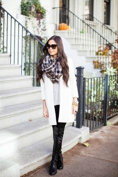 kat tanita stuart weitzman boots, over the knee boots, stuart weitman 5050 boots, cream winter coat