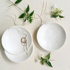 FOR THE REST OF MY DAYS Ring Bearer Bowl by Paloma's Nest in collaboration with Chelsea Petaja