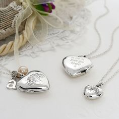 Sterling Silver Tree Heart Locket   Martha Jackson for Valentines Day  SATURDAY DELIVERY STILL AVAILABLE   #Romance #Love #Valentinesday #Giftidea #Engravable #Locket