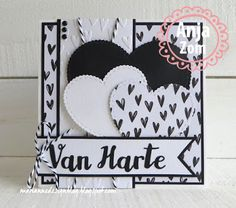 In de 'Spotlight': Do what you love' Love Cards, Diy Cards, Marianne Design Cards, Paper Art, Paper Crafts, Birthday Cards, Happy Birthday, Heart Cards, Stampin Up