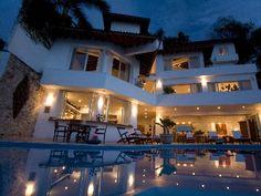Puerto Vallarta villa rental - Casa Salinas II - at evening time 4 floors with elevator.
