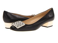 Kate Spade New York Mixer Black Nappa/Cream Nappa/Crystal Stones - Zappos Couture