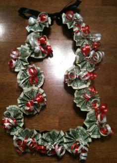 JaYmBitions: Vallejo High School colors Money Leis