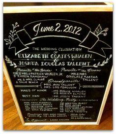 wedding chalkboard by myrtle & lloyd on Etsy
