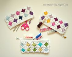 Wonderful pencil case; great for other collections of small things, such as crochet needles!