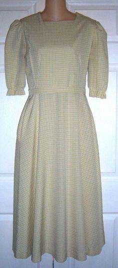 "Amish Mennonite Cape Dress Modest Handmade 36"" Bust /28"" Waist EUC #Handmade #Cape #Casual"