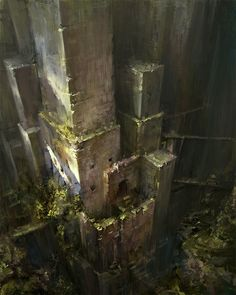 Ruins, j T on ArtStation at https://www.artstation.com/artwork/QxJPx