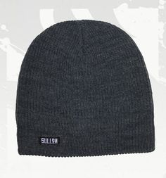 #Sullen Art Collective Swift Beanie Knit Cap with Woven Logo Label Optional Cuff