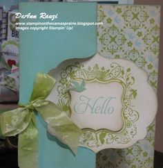 Had fun this last Saturday stampin' with a great bunch of ladies in my Stampin' Studio. I meant to take some photo's of the fun but forgot (...
