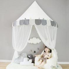 Wholesale-Kids Teepee Tents Children Play Room Cotton Portable Crib Tent Baby Room Decorations Birthday Gifts Boys Props for Photography - Playroom Decor, Baby Room Decor, Nursery Room, Kids Bedroom, Room Baby, Bed Room, Bedroom Decor, Crib Tent, Kids Corner