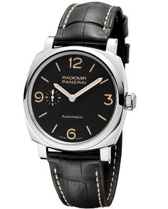 The 42 mm @paneraiofficial Radiomir 1940 3 Days Automatic (PAM620) embodies the purity and simplicity of the original Panerai design, with its no-frills, highly legible sandwich dial and signature cushion-shaped case; it contains the automatic Caliber P.4000, beating at 4 Hz, with twin barrels for a 72-hour power reserve. Read more at: http://www.watchtime.com/wristwatch-industry-news/watches/4-new-panerai-radiomir-1940-watches-debut-in-hong-kong/ #panerai #watchtime #menswatches #watchnerd