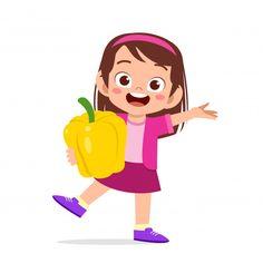 Kids Cartoon Characters, Cartoon Kids, Vegetable Cartoon, Monster Coloring Pages, Big Bird, Fresh Vegetables, Cute Kids, Cute Art, Kids Girls