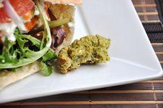 a healthy baked falafel sandwich