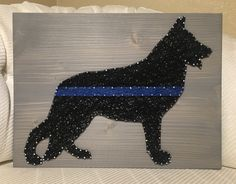 Police K-9 Dog String Art, German Shepherd - order from KiwiStrings on Etsy! www.kiwistrings.etsy.com