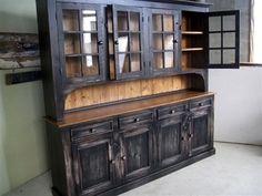 Custom Rustic Reclaimed Dining Room Hutch