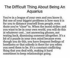 Those difficult Aquarians