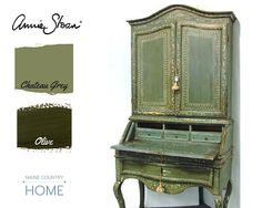 Olive and Chateau Grey mood board. A great color combination.