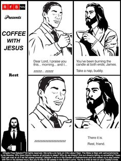 Coffee With Jesus, Christianity, Catholic, Psychology, Illustration, Movie Posters, Fictional Characters, Art, Psychiatry