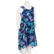 Lovely Floral Chiffon Dress w Hi Lo Hem Dresses Floral Chiffon DressChiffon DressesBurlington Coat FactoryFactories