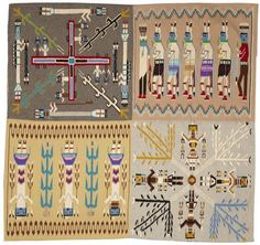 Navajo Yei Pictorial Rug, Native American Rug, Wool Navajo Rugs, Navajo Weaving, Southwestern Rug, Handwoven Navajo Textiles, Woven Rug, #599