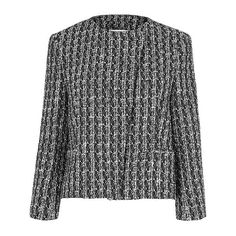 Maria Tweed Jacket (€225) ❤ liked on Polyvore featuring outerwear, jackets, black tweed jacket, black jacket and tweed jacket