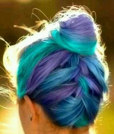 light purple and light blue mixed hair - Google Search