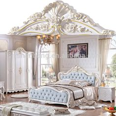wholesale luxury french royal wood double bed designs king size bedroom furniture set from m