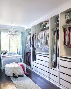 Ikea Closet Makeover Home 61 Ideas Walk In Closet Design, Bedroom Closet Design, Master Bedroom Closet, Closet Designs, Bedroom Storage, Bedroom Inspo, Spare Room Walk In Closet, Bedroom Ideas, Dressing Room Closet