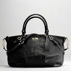 black coach bags