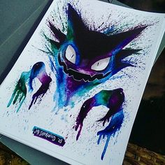 As you already know I love spooky pokemon art and this haunter by @jaisherwood fits perfectly …