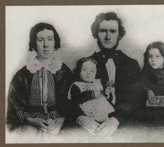 Denny family, 1858. Louisa Boren Denny, David Thomas Denny, Madge Denny, Emily Inez Denny.