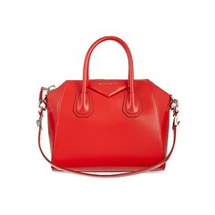 GIVENCHY Antigona small leather tote (235.265 ISK) ❤ liked on Polyvore featuring bags, handbags, tote bags, handbags totes, leather tote handbags, red leather tote bag, leather tote purse and red tote bag