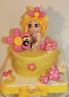 flower cake - by cakesmycakes @ CakesDecor.com - cake decorating website