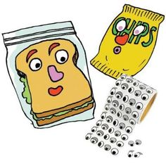 Want an easy way to put a smile on your kid's face? Put a smile on her sandwich! Make a silly face with eye, nose and mouth stickers—they lend an instant expression to a wrapped sandwich or snack bag