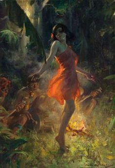Charles Edward Chambers (American, 1883-1941). Fire Dancer, circa 1920