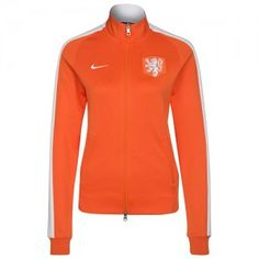 Oranje Nike Preformance N98 trainingsjack voor dames.