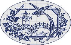 Doily 09 - Oriental garden - charted for antique pattern library